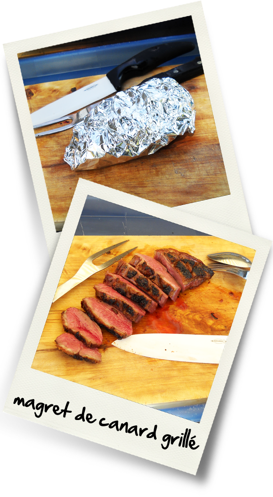 Magret de canard gras grille christiane cuisine - Accompagnement magret de canard grille ...