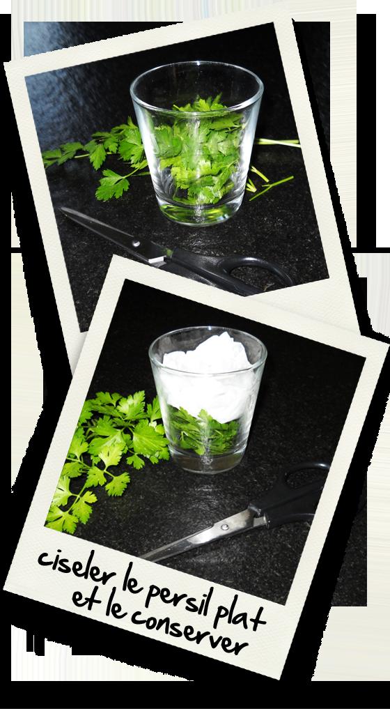 Comment ciseler du persil plat et le conserver christiane cuisine - Comment congeler le persil ...