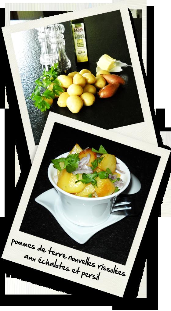 pommes de terre nouvelles rissolees aux echalotes et persil christiane cuisine. Black Bedroom Furniture Sets. Home Design Ideas