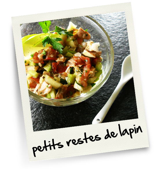 Petits restes de lapin christiane cuisine for Reste de cuisine